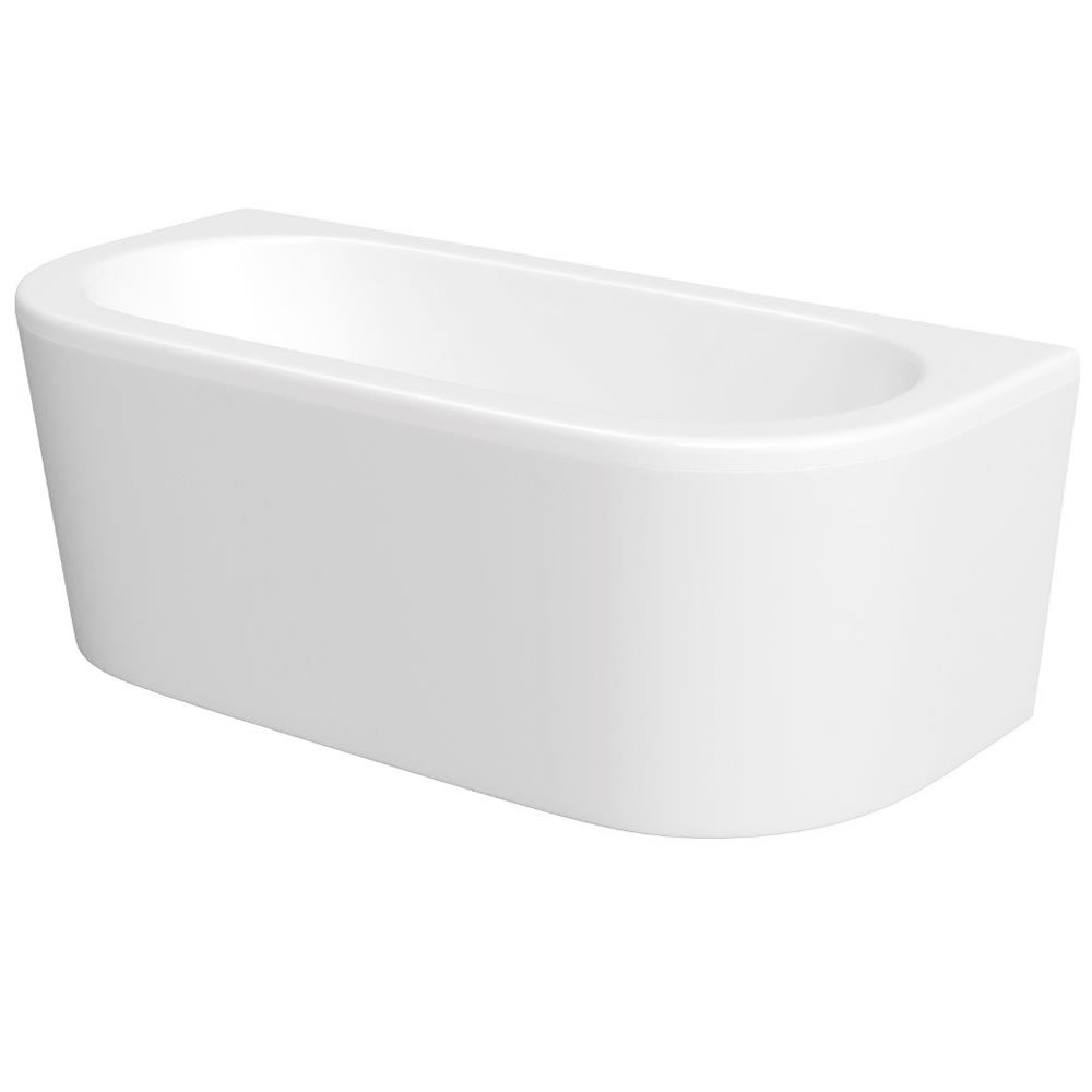 Milano 1700 x 800mm Curved D Shape Bath with Panel