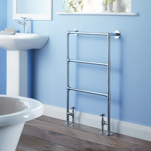 Milano Derwent - Traditional Brass Heated Bathroom Towel Radiator 935mm x 615mm