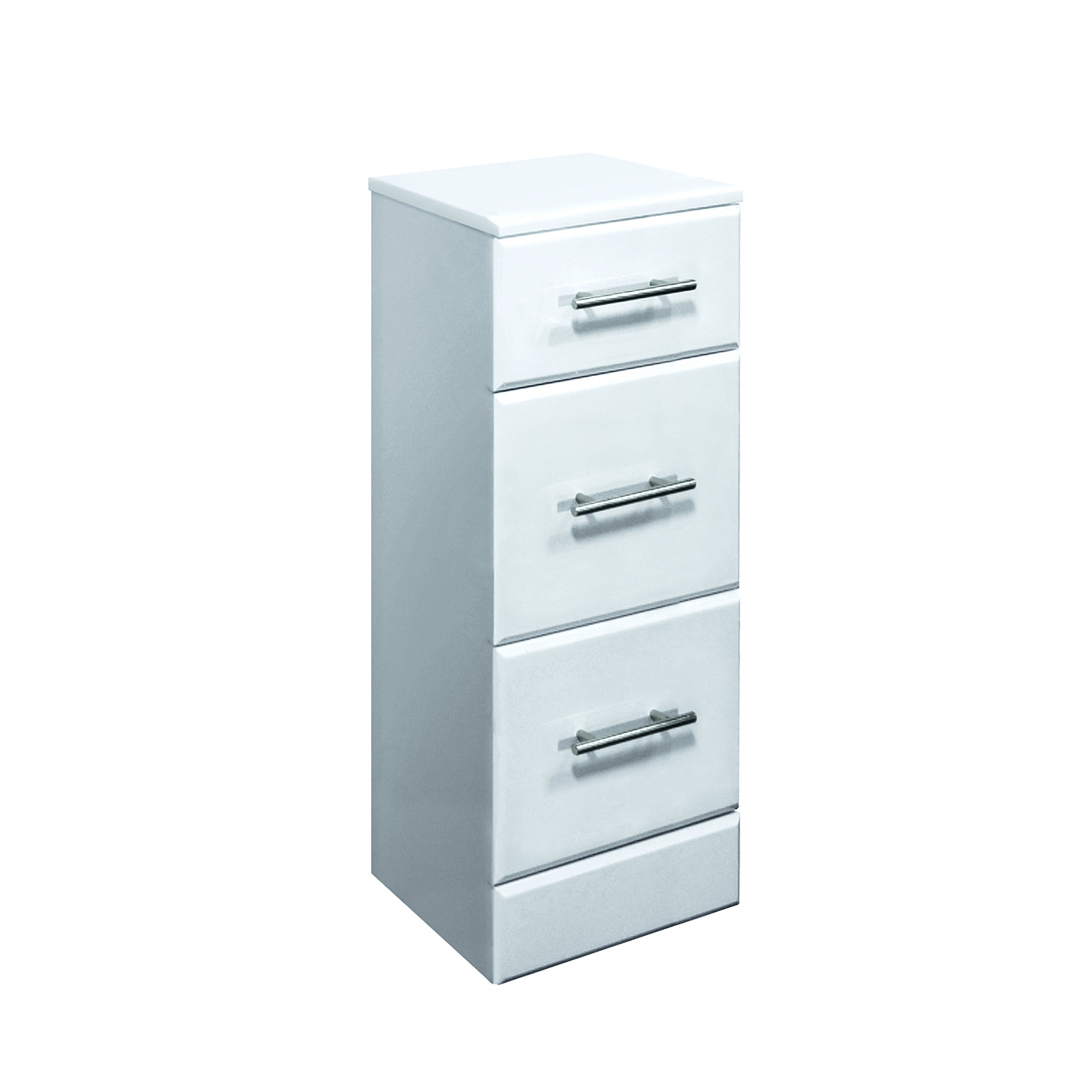 350x300mm Classic 3 Drawer Unit Gloss White