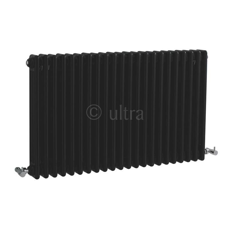Ultra Colosseum - High Gloss Black Triple Radiator 600mm x 1011mm
