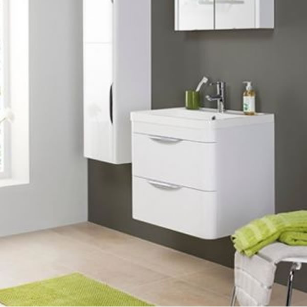 Premier Parade 800mm Wall Mounted 2 Drawer Basin & Cabinet