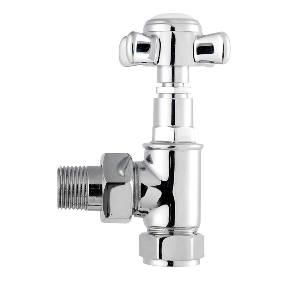 Sterling - Manual Angled Traditional Radiator Valves (Pair)