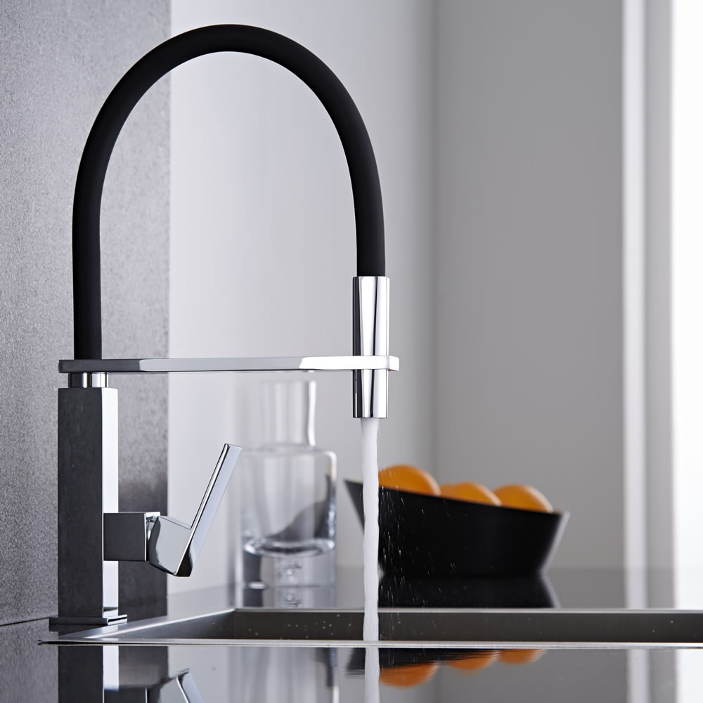 Milano Monobloc Kitchen Mixer Tap with Pull Out Spout