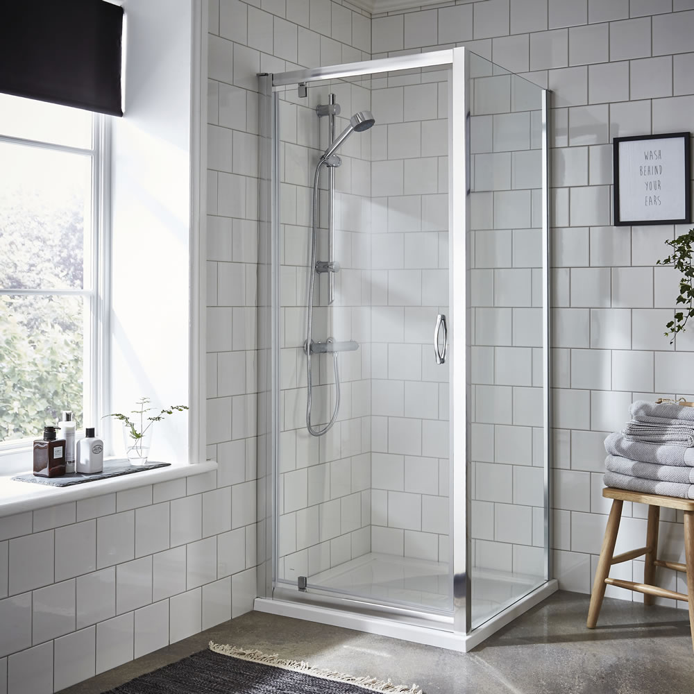 Premier 800 x 800mm Ella Pivot Shower Enclosure With Tray & Waste