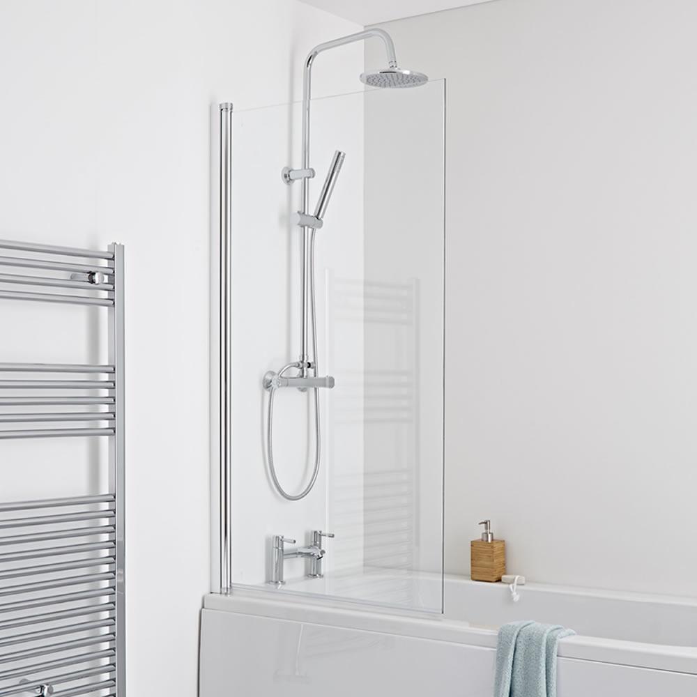 Milano Portland Square Single Bath Shower Screen