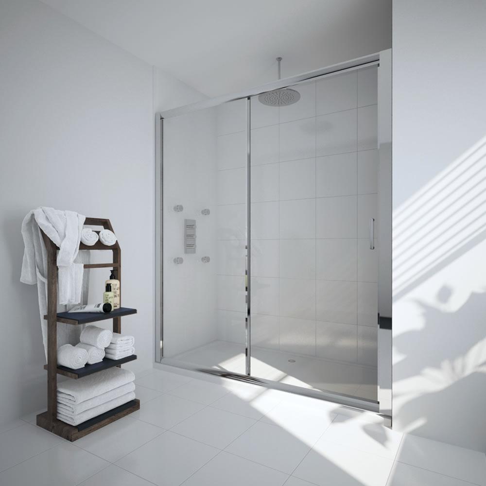 Milano Portland 1400mm Sliding Shower Door 6mm