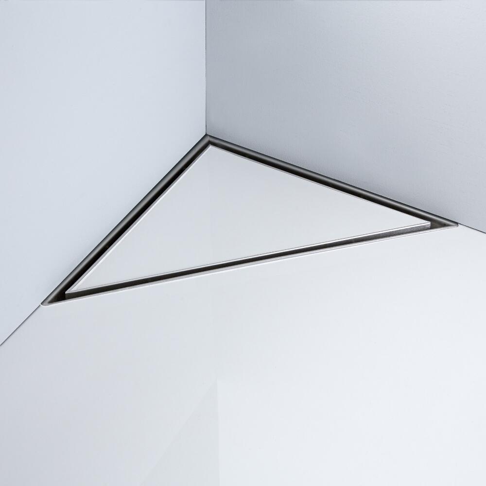 Milano 250mm Corner Tile Insert Stainless Steel Shower Drain
