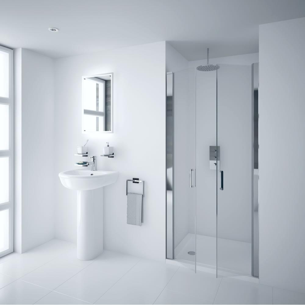 Milano Portland 900mm Double Hinged Shower Door 6mm