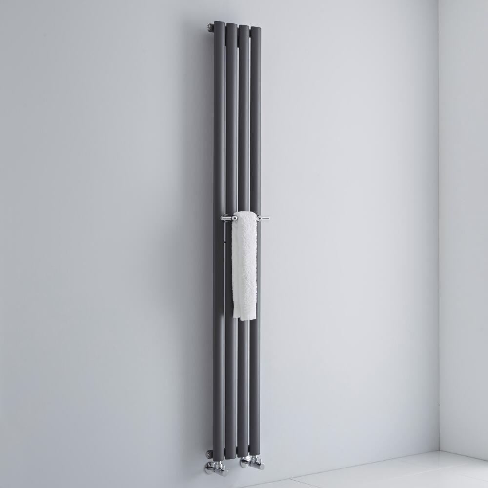 Milano Chrome Towel Rail for Aruba and Alpha Vertical Designer Radiator 230mm