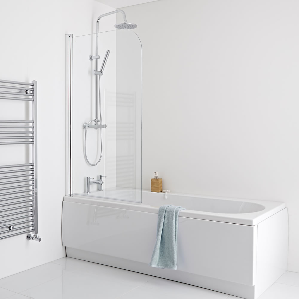 Milano 1700mm Straight Shower Bath Panels & Screen