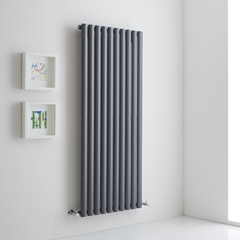 Milano Aruba Aiko - Anthracite Vertical Designer Radiator 1400mm x 590mm (Single)