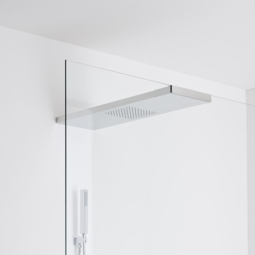 Milano Trenton Glass-grabbing shower head 1000 x 250 - Chrome