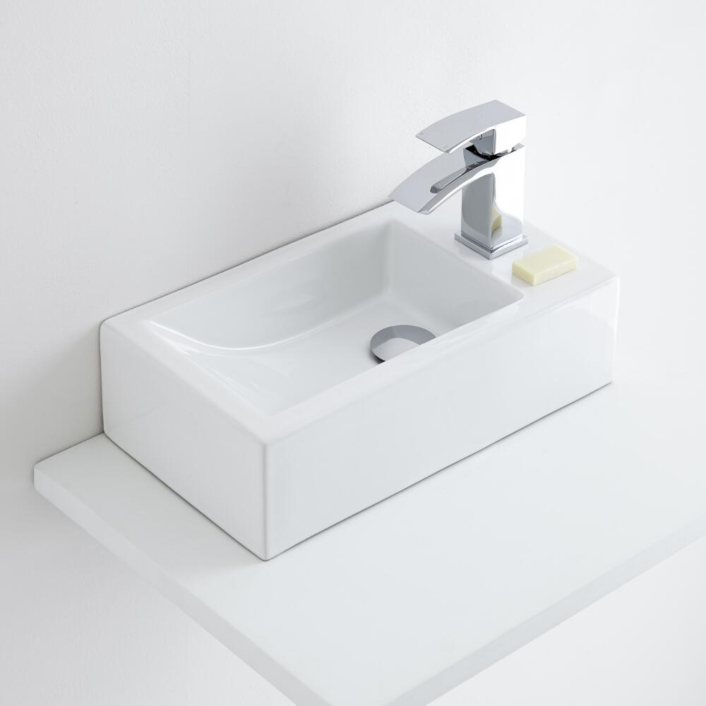 Milano Elswick - Ceramic Countertop Basin 450 x 250mm