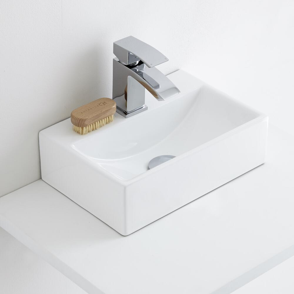 Milano Elswick - Ceramic Countertop Basin 360 x 250mm