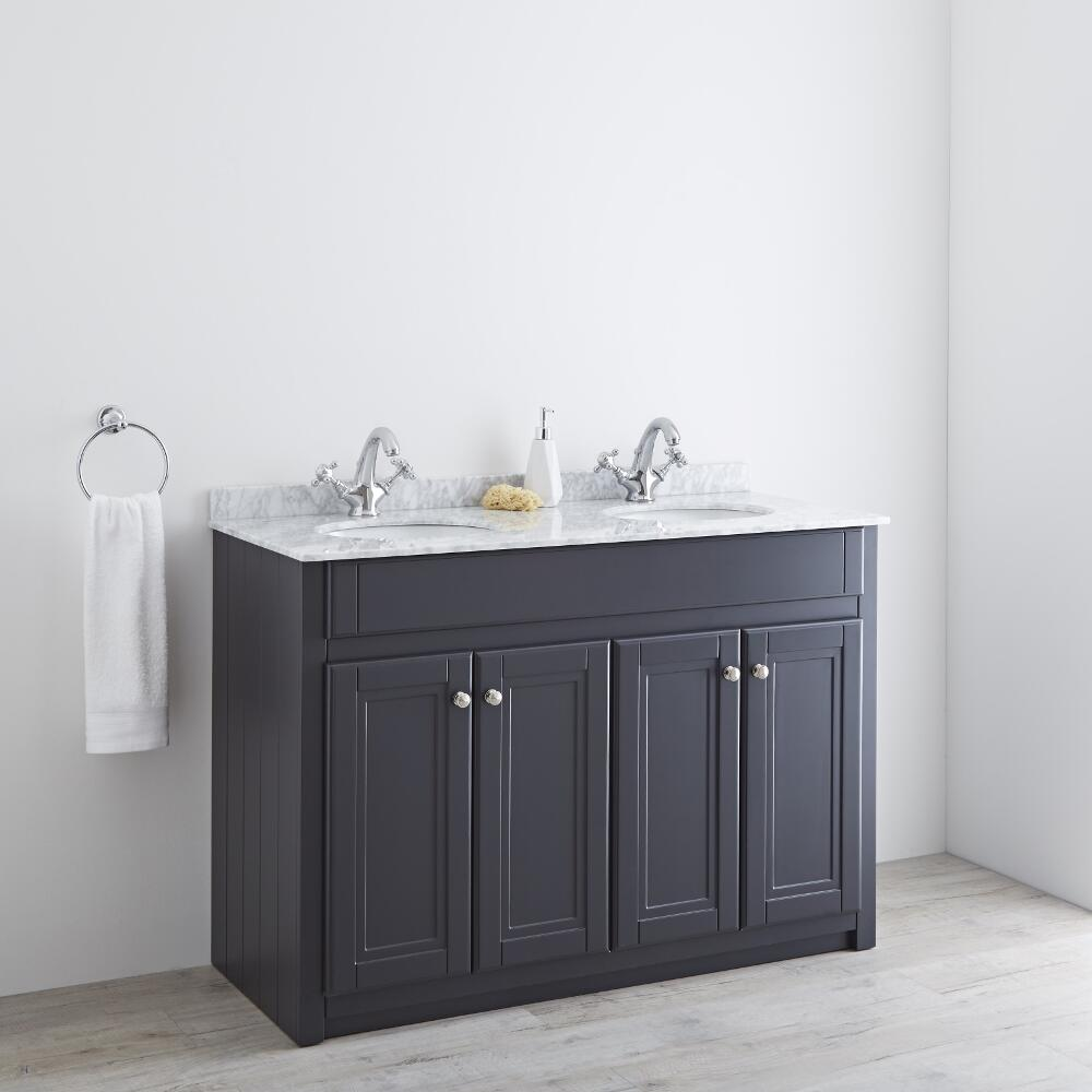 Milano Edgworth 1200mm Traditional Vanity Base Unit - Anthracite