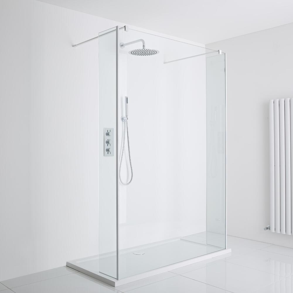 Milano Luxury Walk-In Shower Enclosure (1400 x 900mm) - Inc. Tray