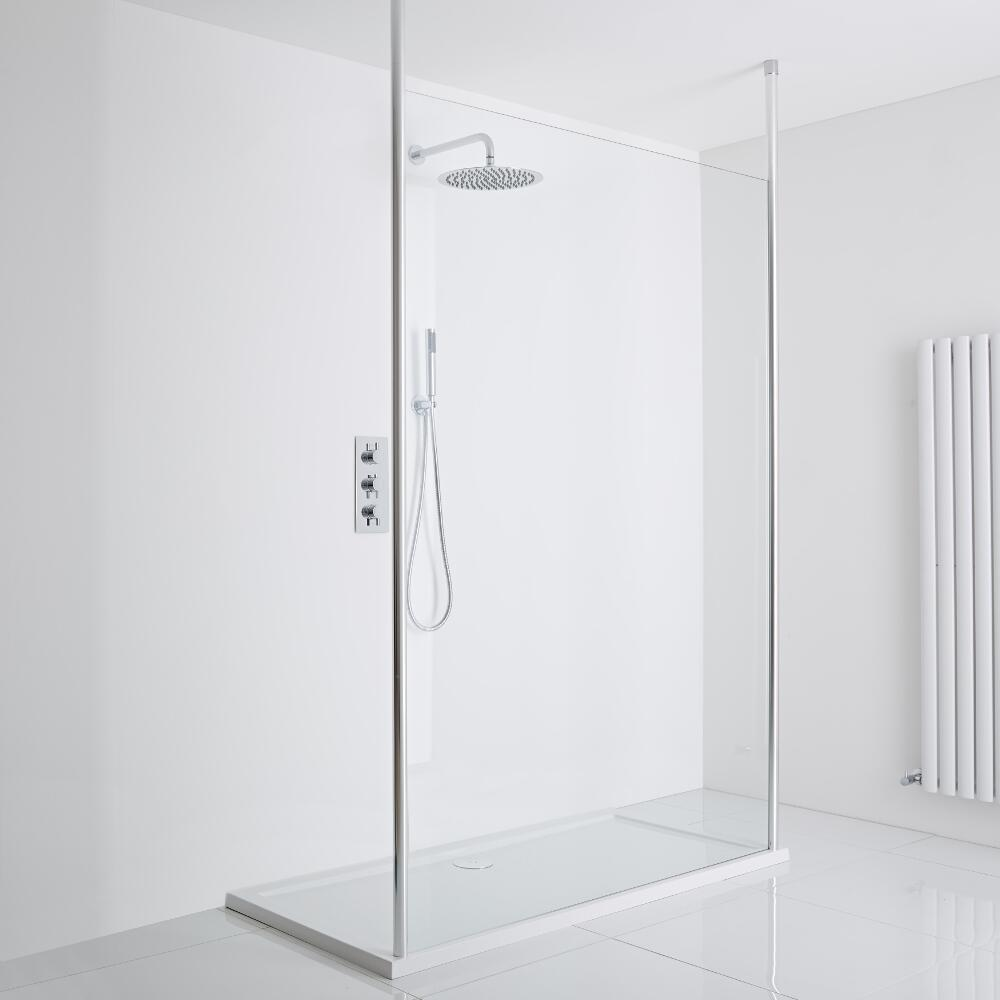 Milano Alto Floating Wet-Room Shower Enclosure (1200 x 900) - Inc. Tray