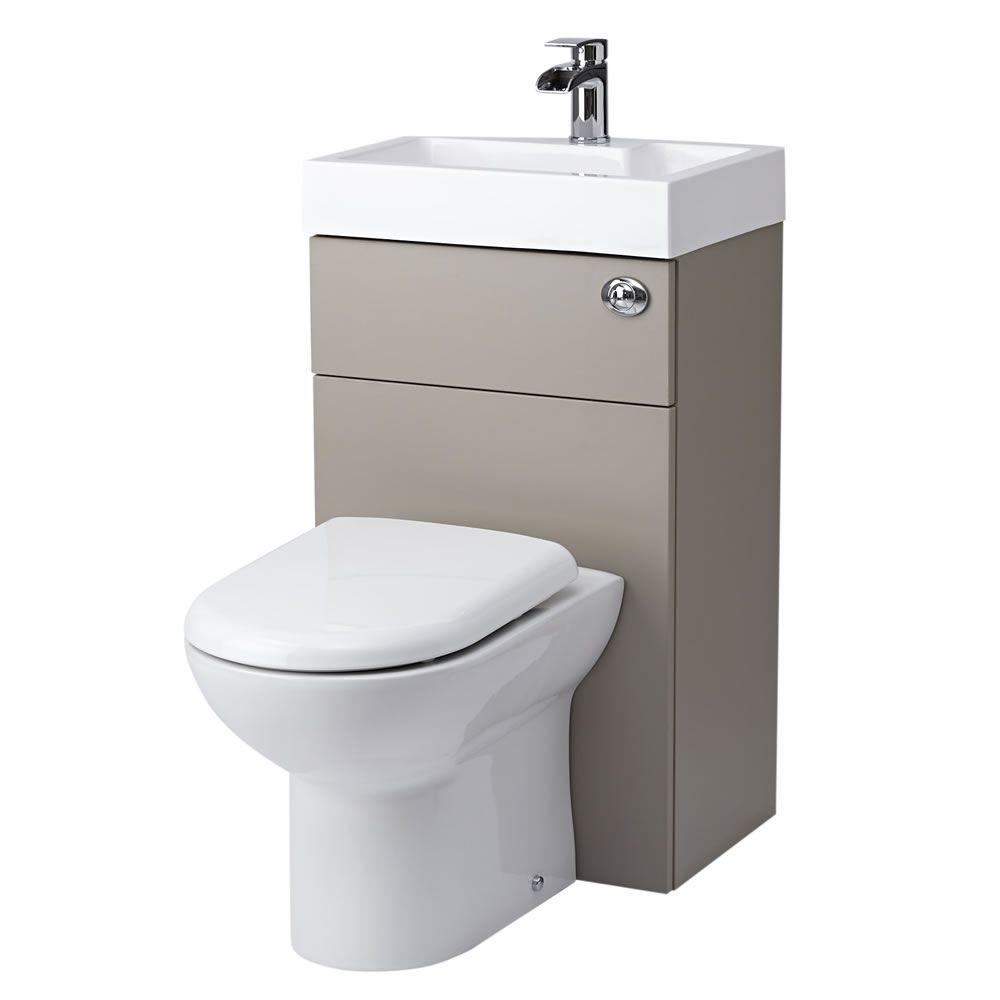 Milano 2 In 1 Toilet Amp Basin Combination Unit Stone Grey