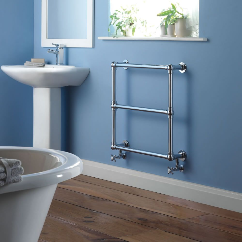 Milano Derwent - Traditional Brass Heated Bathroom Towel Radiator ...