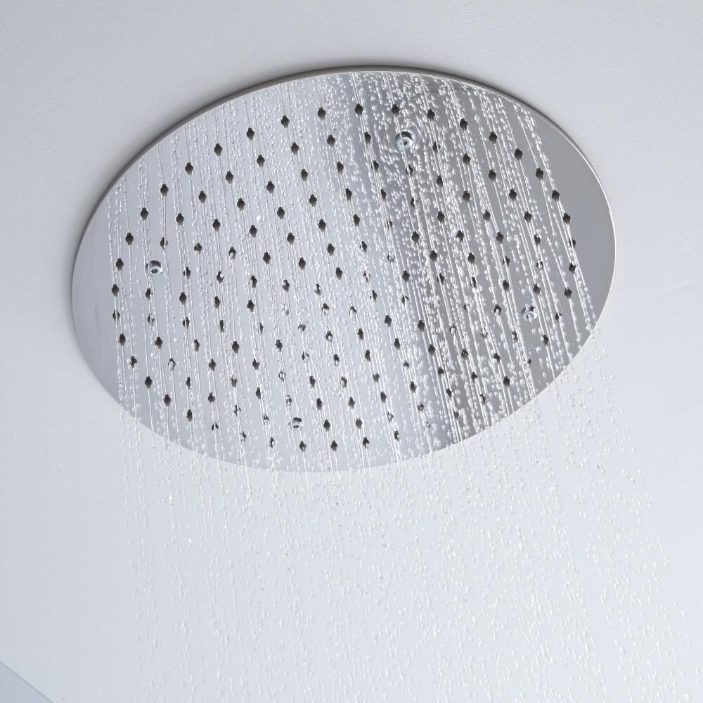 Milano 400mm Round Ceiling Tile Fixed Shower Head Chrome