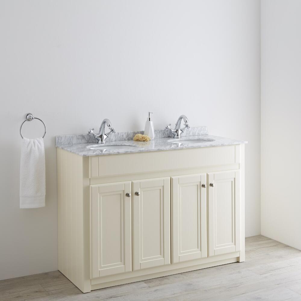 Milano Edgworth 1200mm Traditional Vanity Base Unit - Ivory