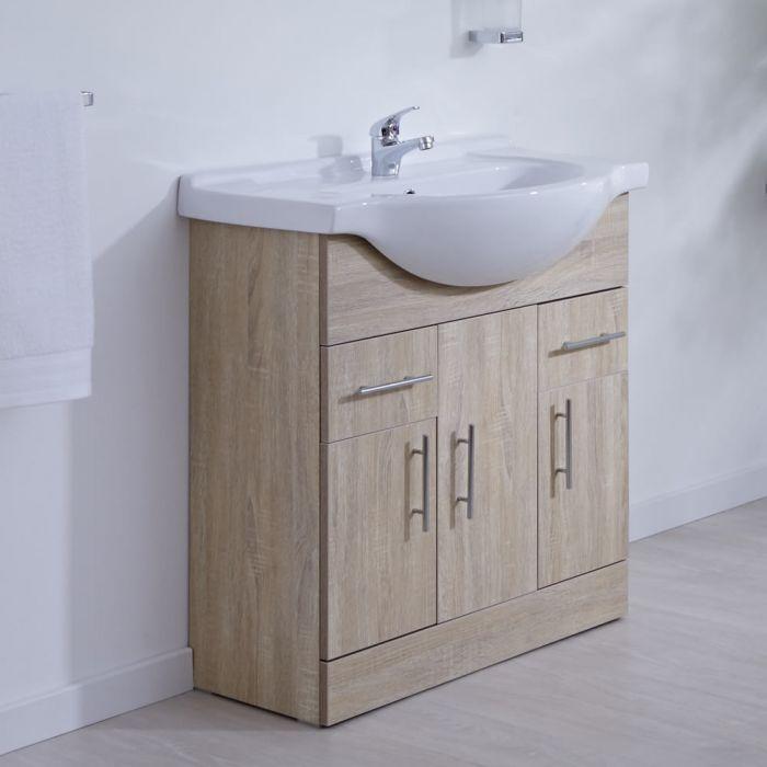Milano Classic Oak 750mm Vanity Unit
