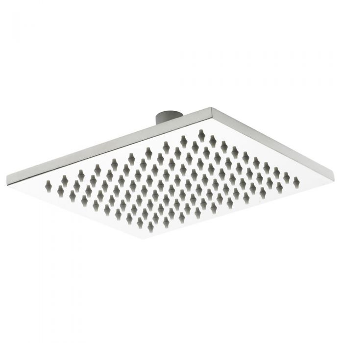 Milano 200mm x 200mm Square Polished Stainless Steel Head