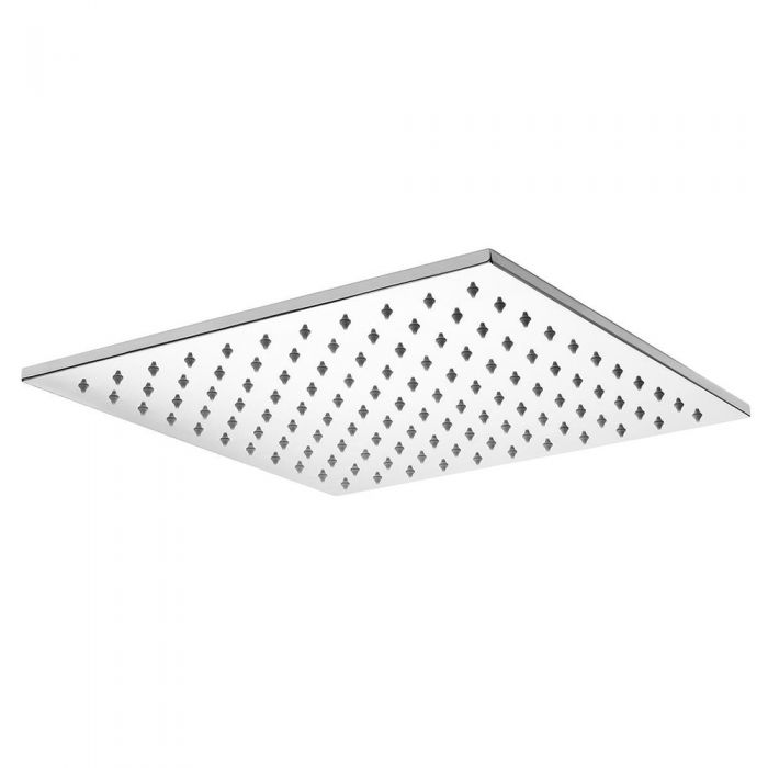 Milano 400mm Square Polished Stainless Steel Shower Head
