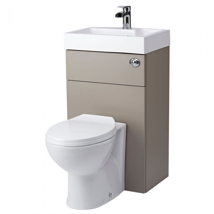 Milano Linton Combination Toilet & Basin Unit Stone Grey