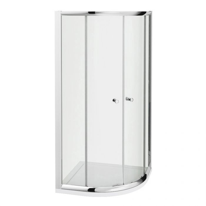 Milano Hutton 800mm Quadrant Shower Enclosure 5mm