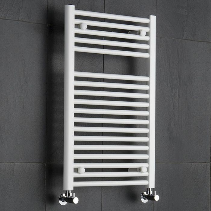 Sterling Premium White Flat Heated Towel Rail 800mm x 500mm