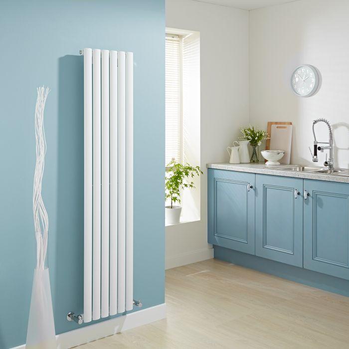 Milano Aruba - Luxury White Vertical Designer Radiator 1600mm x 354mm