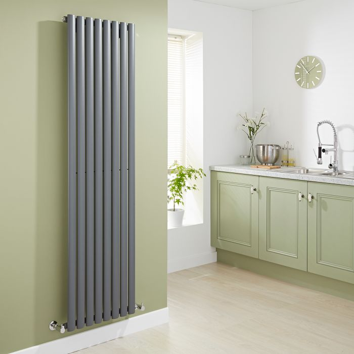 Milano Aruba - Luxury Anthracite Vertical Designer Radiator 1780mm x 472mm