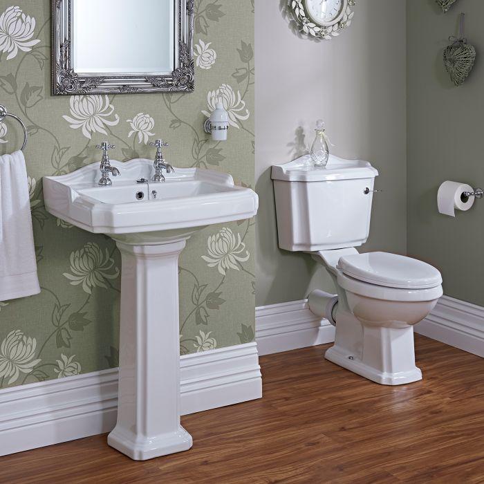 Milano Windsor Traditional Toilet & 2TH Basin Set