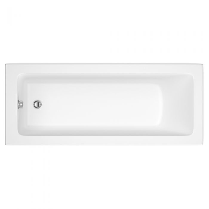 Milano Ice 1600 x 700mm Single Ended Standard Bath