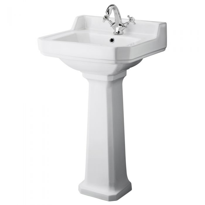 Premier Carlton 500mm Cloakroom 1TH Basin and Pedestal