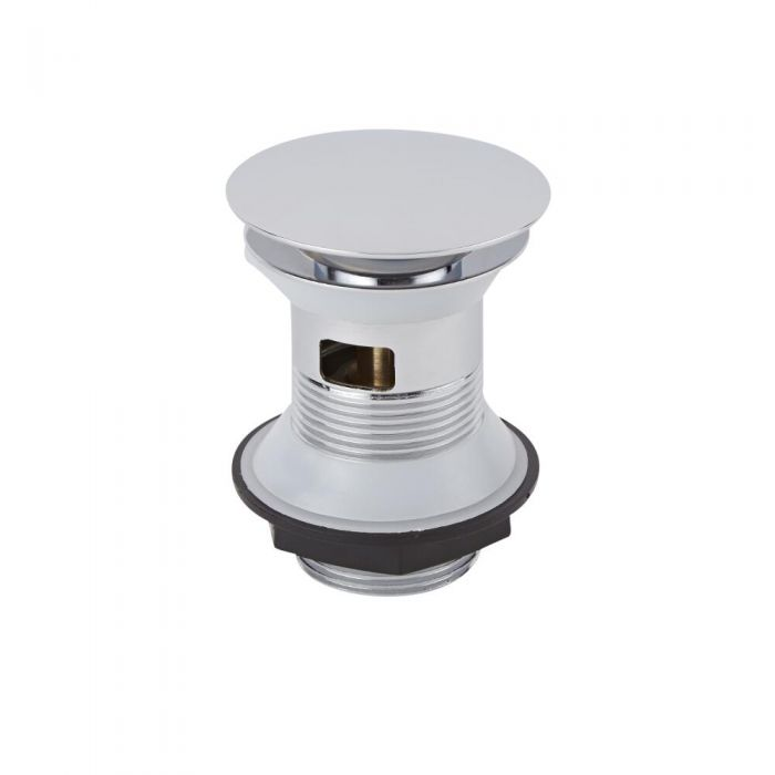 Milano Slotted Chrome Push Button Basin Waste