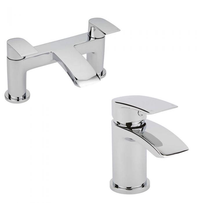 Milano Razor Basin & Bath Filler Tap Set