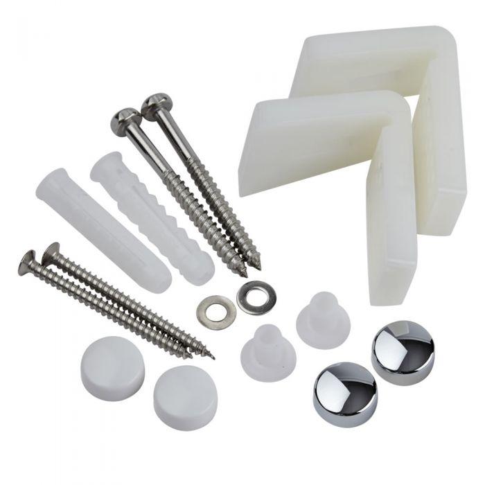 Milano Angled Floor Toilet Pan / Bidet & Semi Pedestal Fixing Kit