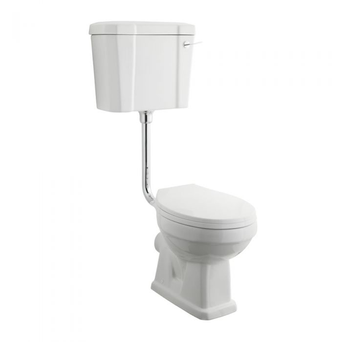 Premier Carlton Toilet pan with Wood Seat & Low Level Cistern