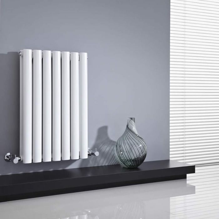 Milano Aruba - White Horizontal Designer Radiator 635mm x 415mm (Double Panel)