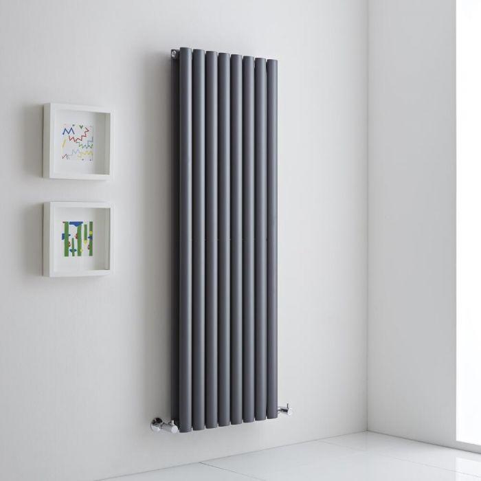 Milano Aruba Aiko - Anthracite Vertical Designer Radiator 1400mm x 472mm (Double)