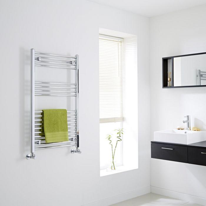 Milano Flat Chrome Heated Towel Rail 1000mm x 600mm