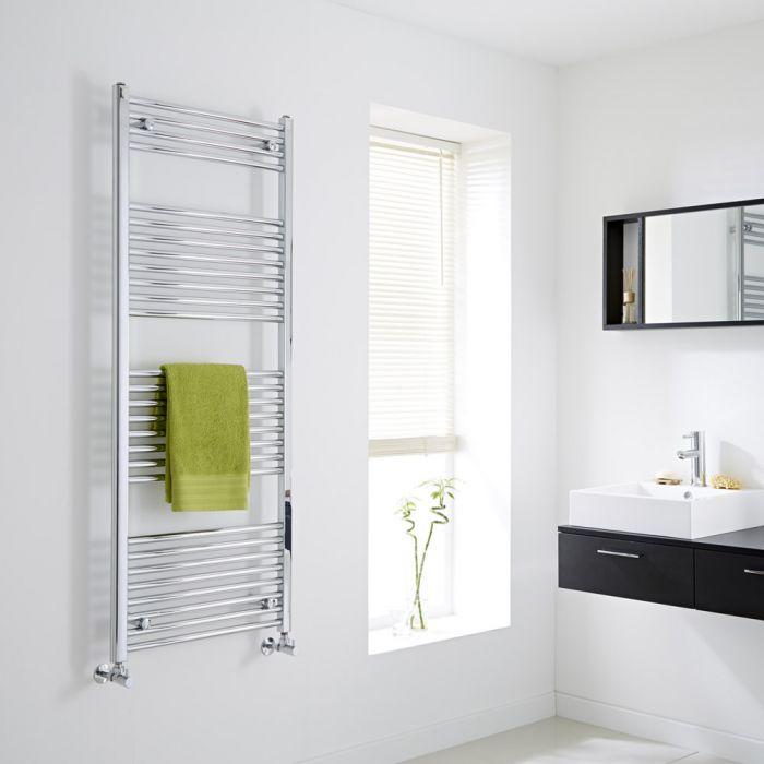 Milano Flat Chrome Heated Towel Rail 1500mm x 600mm