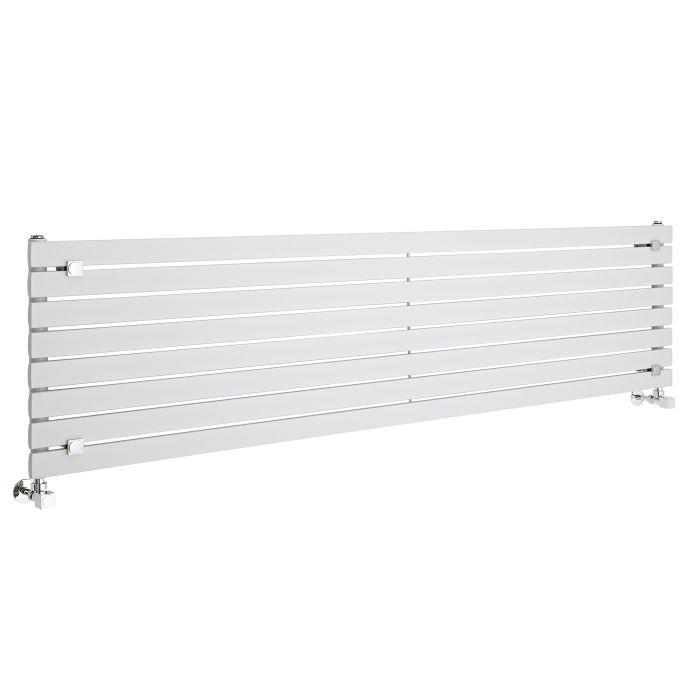 Milano Capri - White Horizontal Flat Panel Designer Radiator 472mm x 1780mm