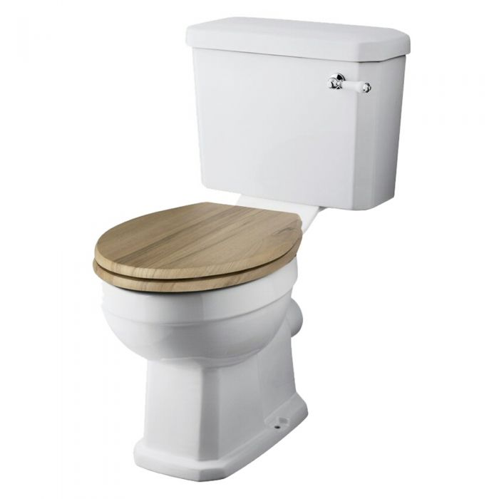 Milano Traditional Toilet with Cistern and Walnut Seat