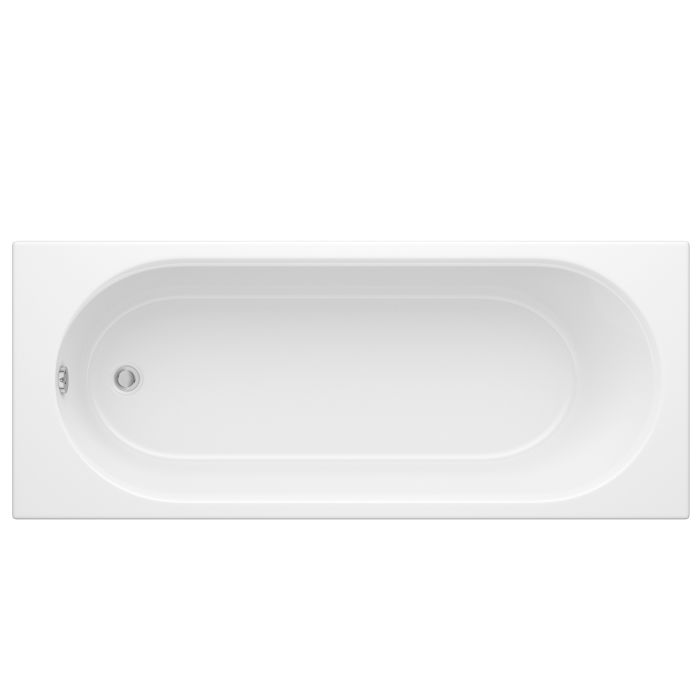 Milano 1700 x 750mm Round Single Ended Bath