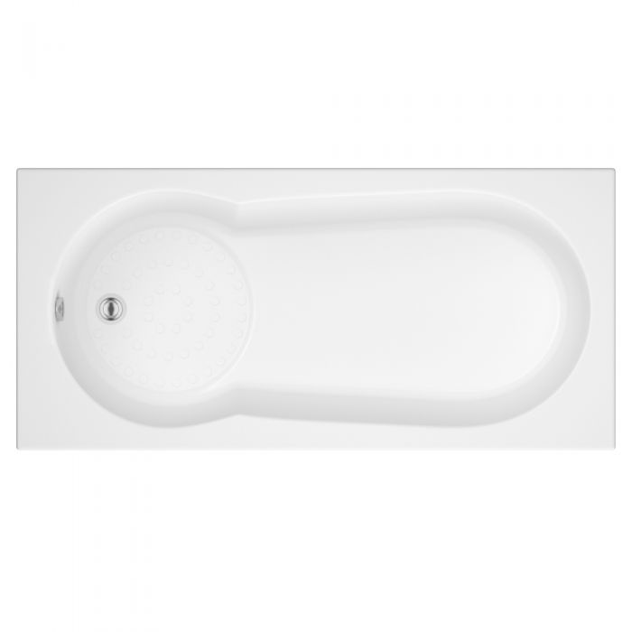 Milano 1700 x 800mm Keyhole Bath Anti-Slip