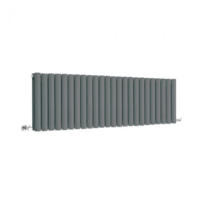 Milano Anthracite Horizontal Designer Radiator 400mm x 1411mm (Double Panel)