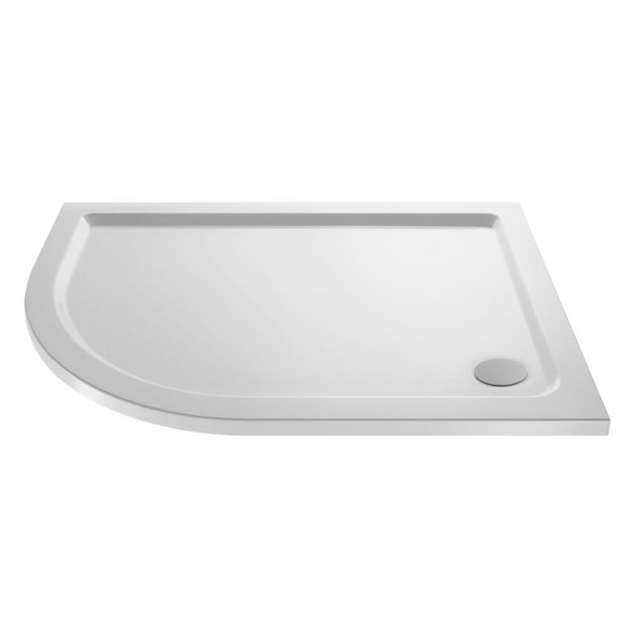 Pearlstone Offset Quadrant shower tray LH 1200 x 800mm